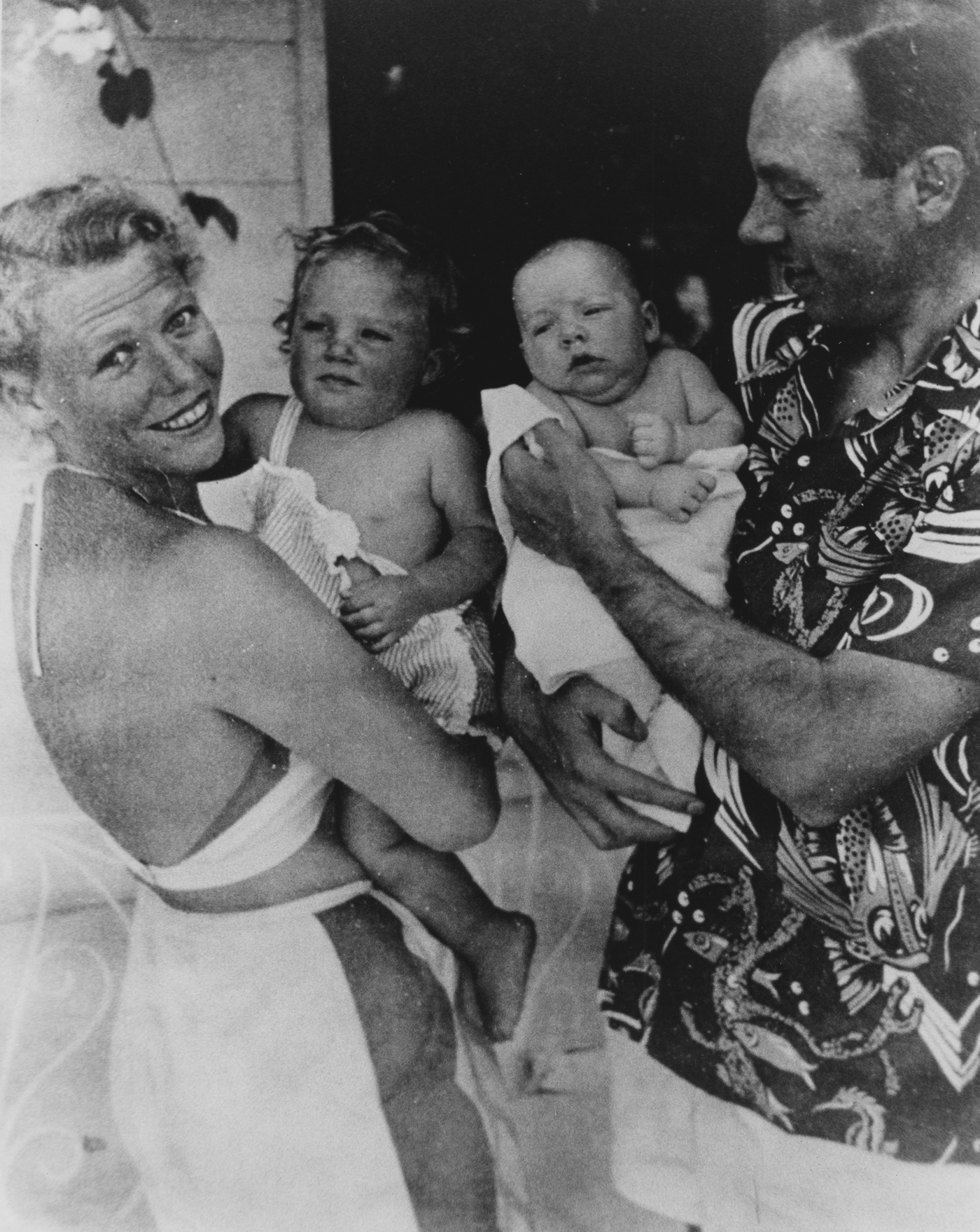 Millie and Cecil Cutting with daughter Sydney and son Christopher, circa 1948.