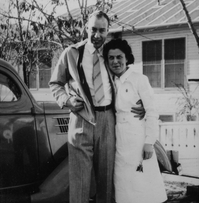 Historical photo of Cecil Cutting, a surgeon, and Millie Cutting, a registered nurse.