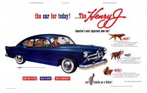 1950 magazine ad for the new Henry J economy coupe