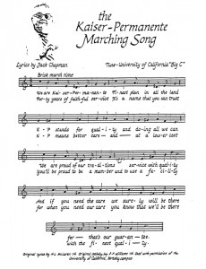 Kaiser Permanente Marching Song