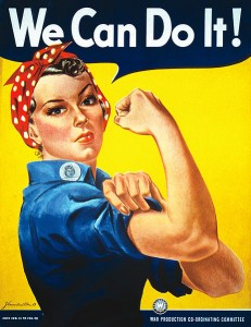 Rosie the Riveter's tough image morphs to fit the times