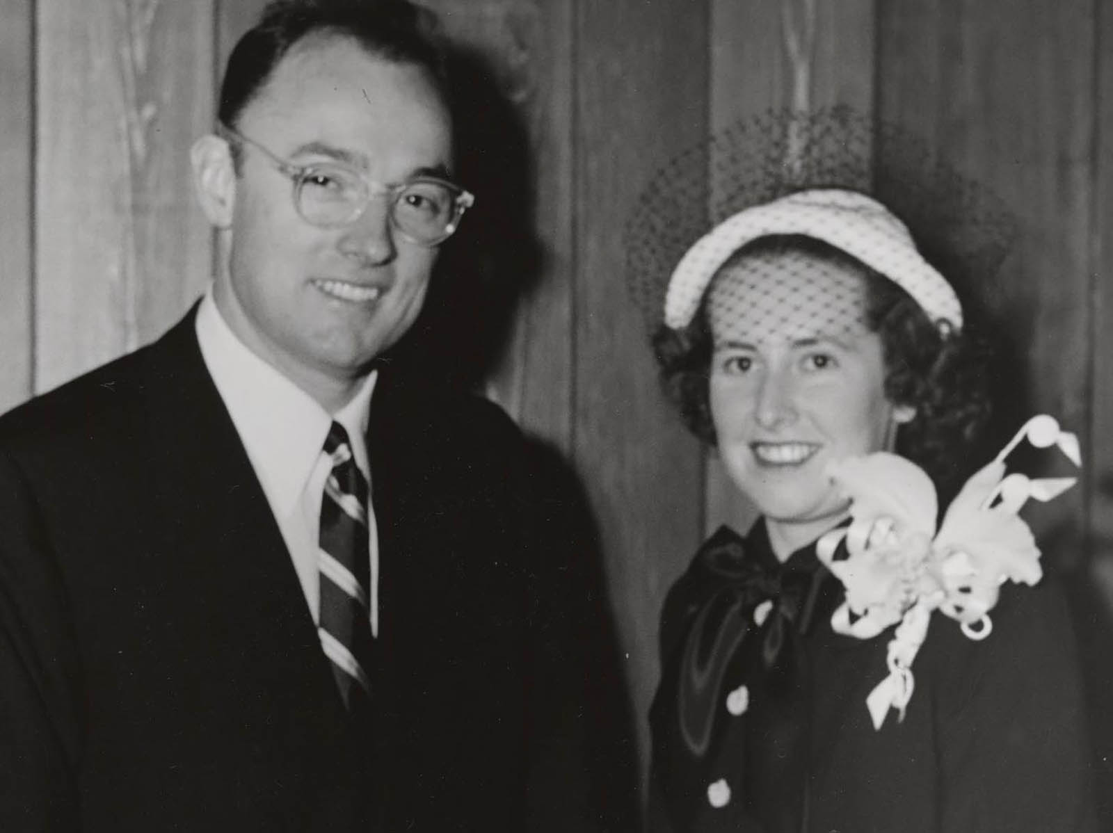 Bobbie with husband Henry J. Kaiser, Jr., son of industrialist and co-founder of Kaiser Permanente Henry J. Kaiser, Sr., circa 1960.