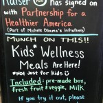 NW region Blackboard - wellness meals
