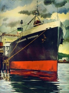1944 rendering of the S.S. Permanente Silverbow
