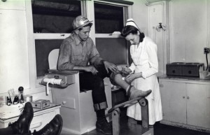 Kaiser Richmond shipyard first aid station, circa 1944