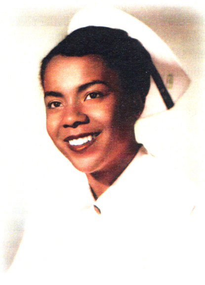 Jessie Head Cunningham as a student at Kaiser Foundation School of Nursing, 1954