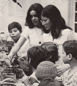 Wendy Shearn with the kids in her hospital play program, 1973. Wendy is a physician at Kaiser Permanente San Rafael. Project Hope photo