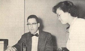 Dr. Leonard Morgenstern with Philippines exchange student Rosario Bautista, KaiPerm Kapsul, May 1959