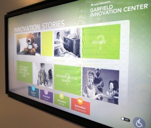 Interactive digital signage at the Garfield Innovation Center