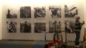 Installation of historic Kaiser shipyard and Northern Permanente photographs.