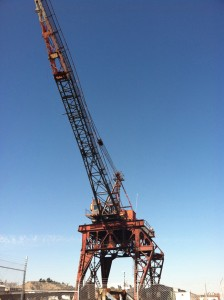 2011 photo of the last whirley crane in the Kaiser Richmond shipyard in California.