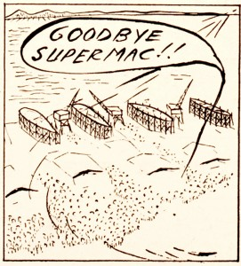 Frame from final Supermac strip, March 30, 1945.