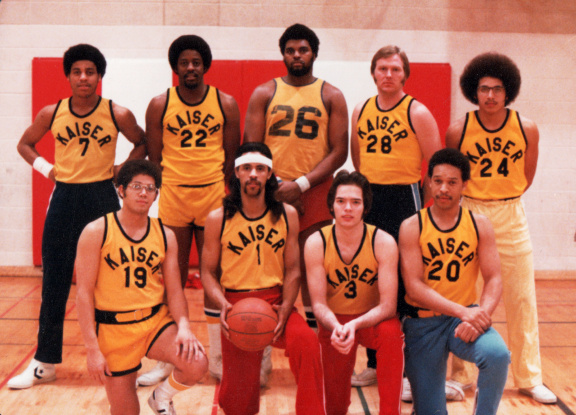 1978 photo of the Kaiser Aluminum men's basketball team