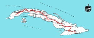 Cuban Central Highway map, circa 1937