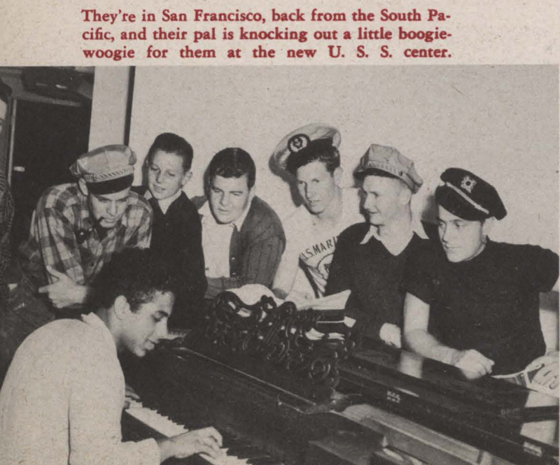 Photo from article about United Seamen's Service center in San Francisco; Kaiser Richmond shipyard newspaper Fore'n'Aft, 10/06/1944.