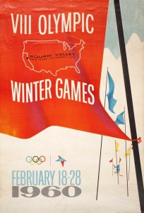 Poster for 1960 Winter Olympics at Squaw Valley, by Jack Galliano. (Author's collection)