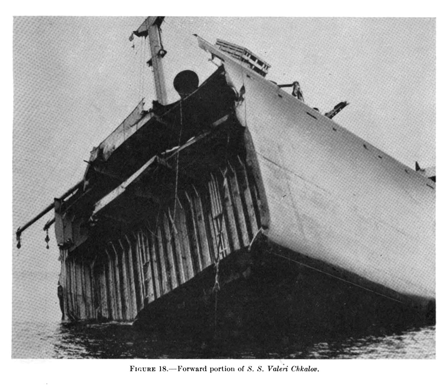 T-2 tanker failure, SS Valeri Chkalov, 1947 Final Report