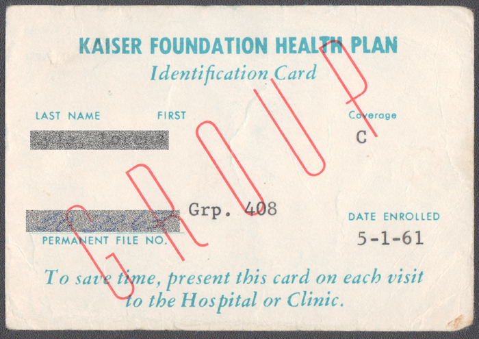 Kaiser Permanente member cards — paper, plastic, or pixels ...