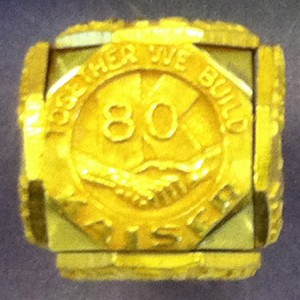 'Together we build' Kaiser Industries 80 year pin