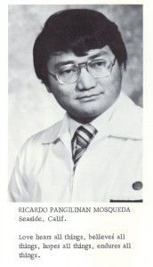 KFSN class of 1972 yearbook photo Ricardo Mosqueda