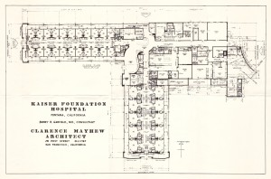Architectural drawing, Fontana Kaiser Foundation Hospital