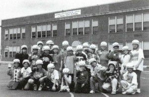 Bike helmet giveaway to 200 3rd, 4th and 5th grade students at James John elementary school in North Portland, Pulse 1997-08
