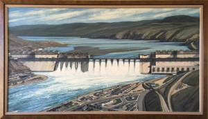 'Grand Coulee Dam,' painting by Jack Galliano