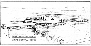 Sketch of Harbor City Hospital, 1955-fall