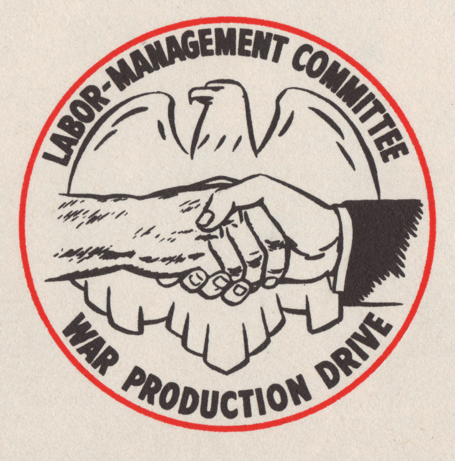 Logo, Labor-Management Committee, War Production Drive, 1944