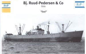 1960s picture of the Liberty ship Norwegian-flagged Essi