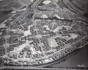 Aerial photo, Vanport City, circa 1943.