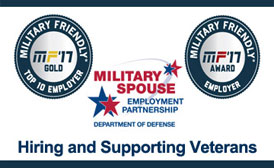 Military friendly award badges, Hiring and Supporting Veterans