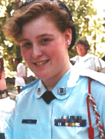 photo of Laura Crawford as a teenager in her high school AFJROTC uniform