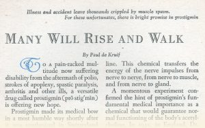 1948 article clipping from Readers Digest, headline reads 'Many Will Rise aAnd Walk'