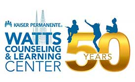 KP's Watts Wellness and Learning Center 50th anniversary logo