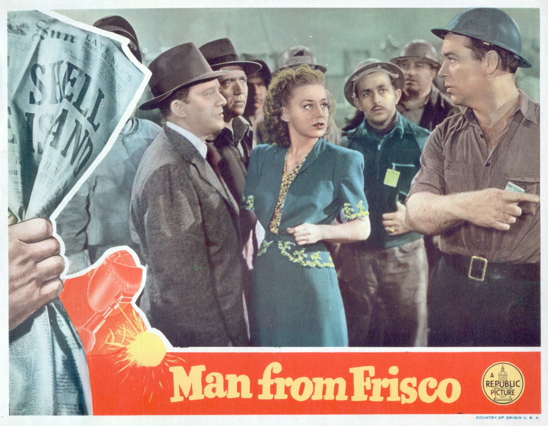 """Man from Frisco"" movie poster, 11x14"", 1944."
