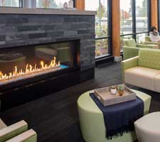 interior Burien Medical Center, with fireplace