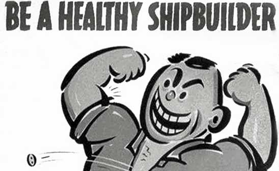 Kaiser Richmond shipyard voluntary health plan recruitment poster, 1942