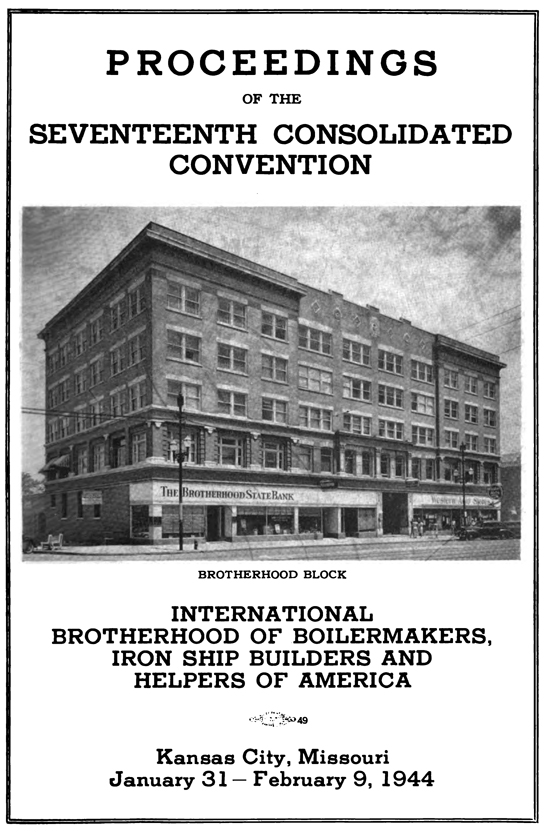 Cover of Boilermakers conference proceedings 1944