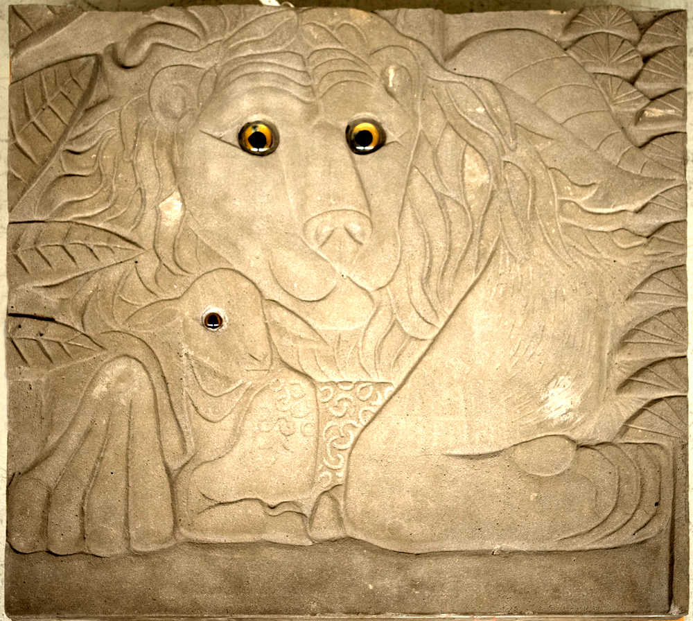 Lion and lamb detail, Peaceable Kingdom mural