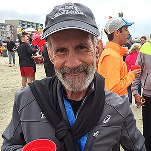 Steve Sidney at the finish of the Hood to Coast Relay in Oregon in 2016.