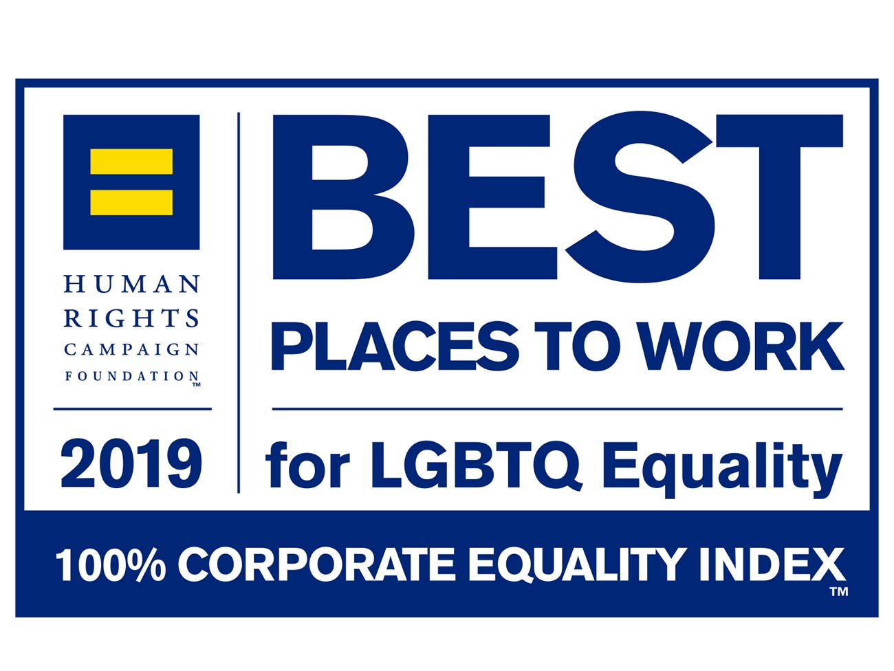 Another perfect score on 2019 Corporate Equality Index