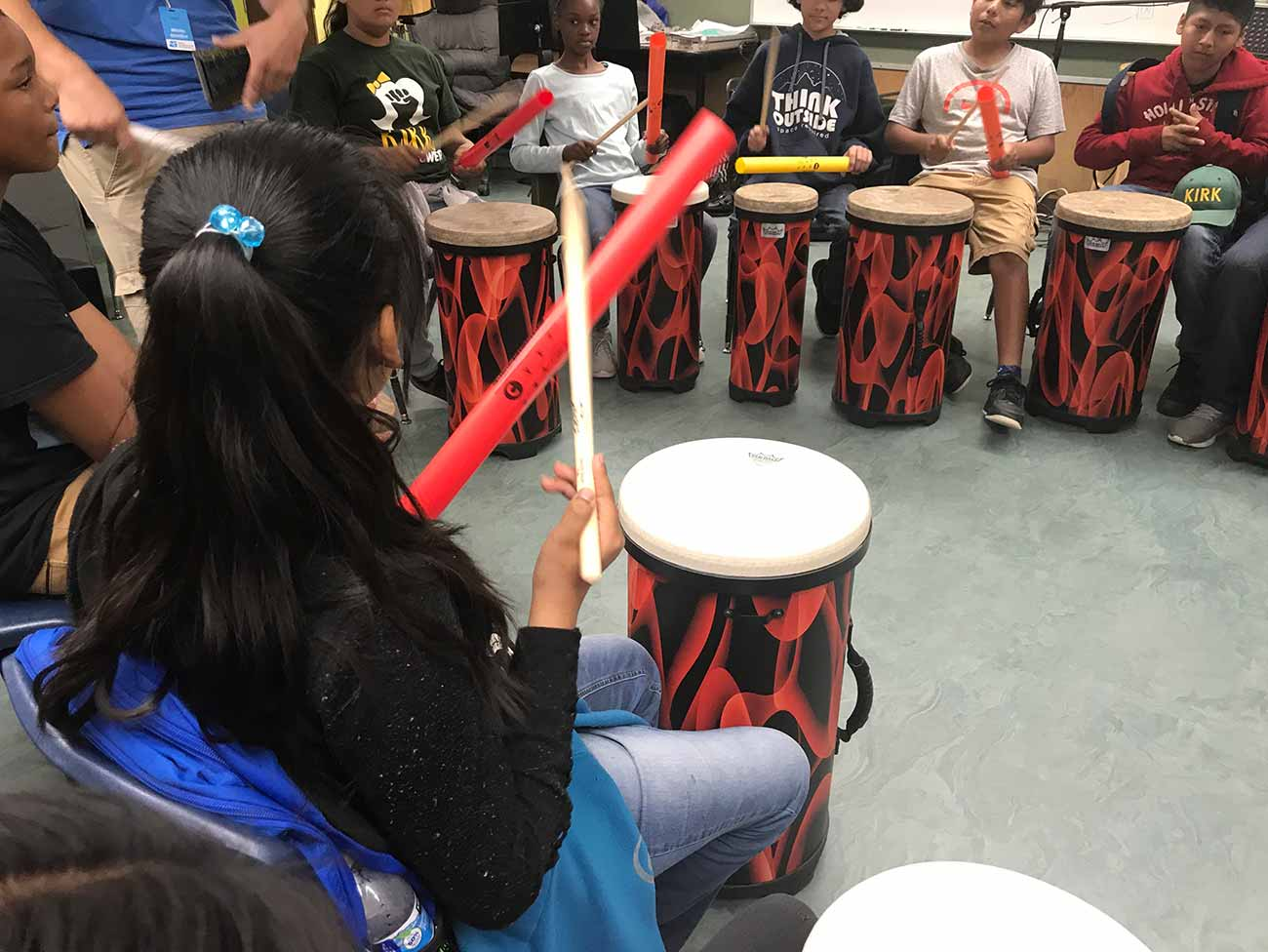 Drumming helps students beat the odds