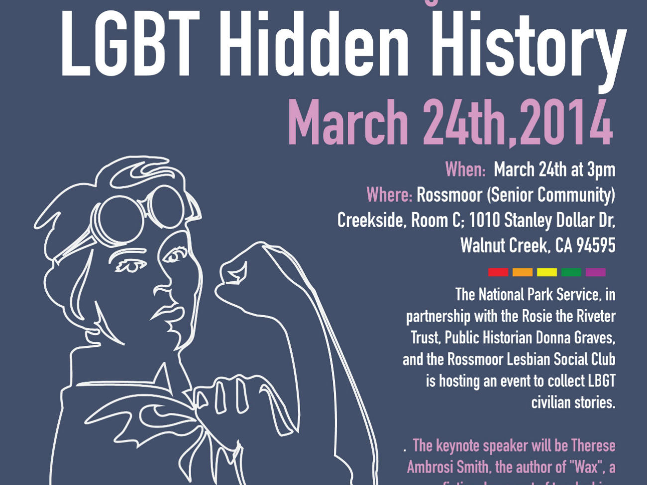 Seeking LGBT stories from WWII event flier