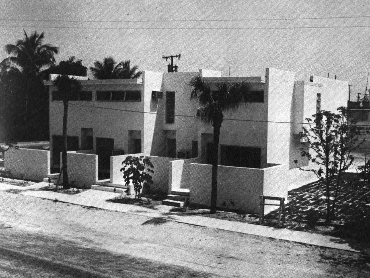 New 2- and 4-bedroom affordable townhouses nearing completion in Florida, 1971.