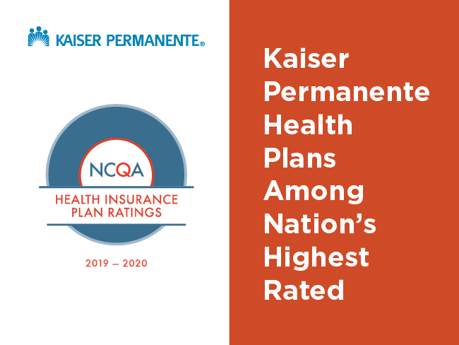 NCQA Health Insurance Plan Ratings 2019-2020: Kaiser Permanente health plans among nation's highest rated
