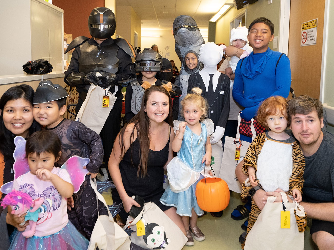 Keiki attendees at Kaiser Permanente's annual Halloween trick-or-treat event at the Moanalua Medical Center in Hawaii.