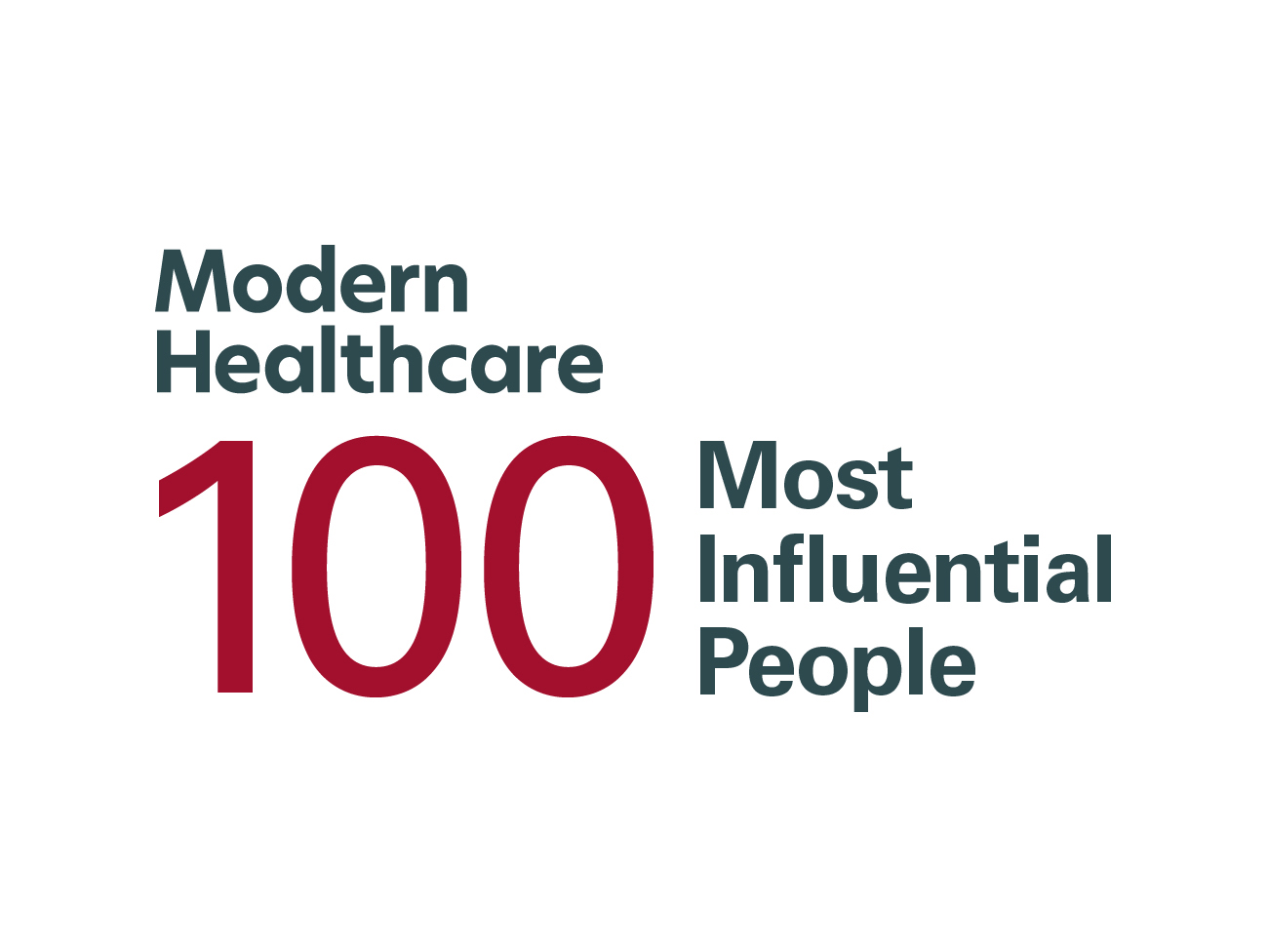 Modern Healthcare 100 Most Influential People 2019 logo.