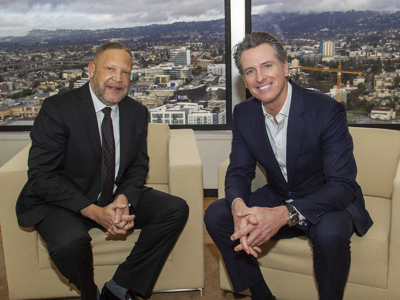 Kaiser Permanente Chairman and CEO Greg Adams and California Governor Gavin Newsom