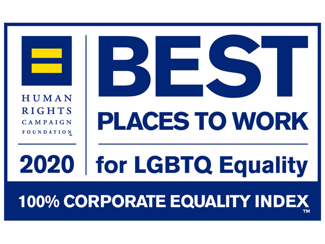 Human Rights Campaign Foundation 2020 Best Places to Work for LGBTQ Equality, 100% Corporate Equality Index